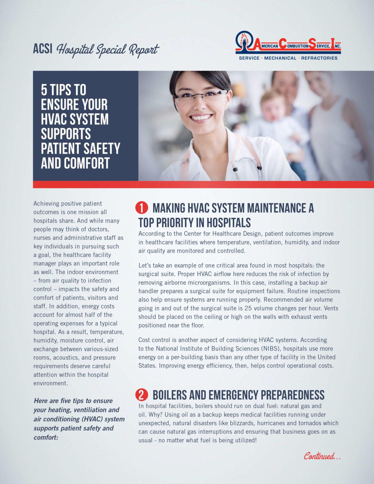 ACSI  Hospital Special Report