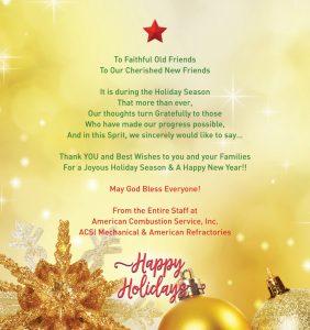 Photo of Happy Holidays graphic from ACSI