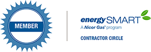 Energy Smart a Nicor Gas Program Contractor Circle Graphic