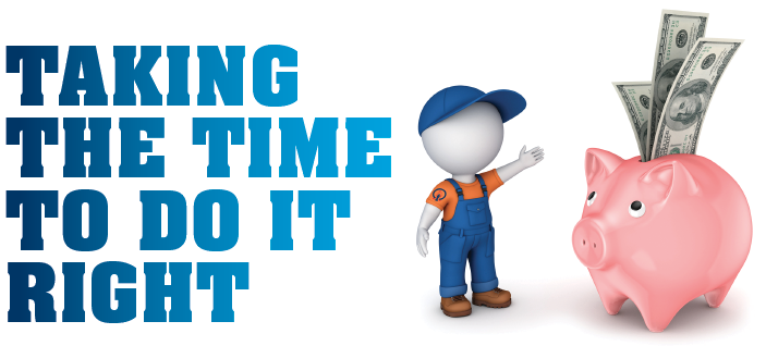 "Photo of ""Taking the Time to do it Right"" graphic from ACSI"