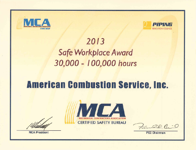 Photo of ACSI Safeplace to Work Award 2013