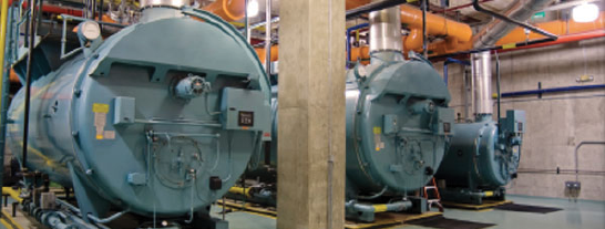 Photo of Industrial Sized Boilers and Burners from ACSI