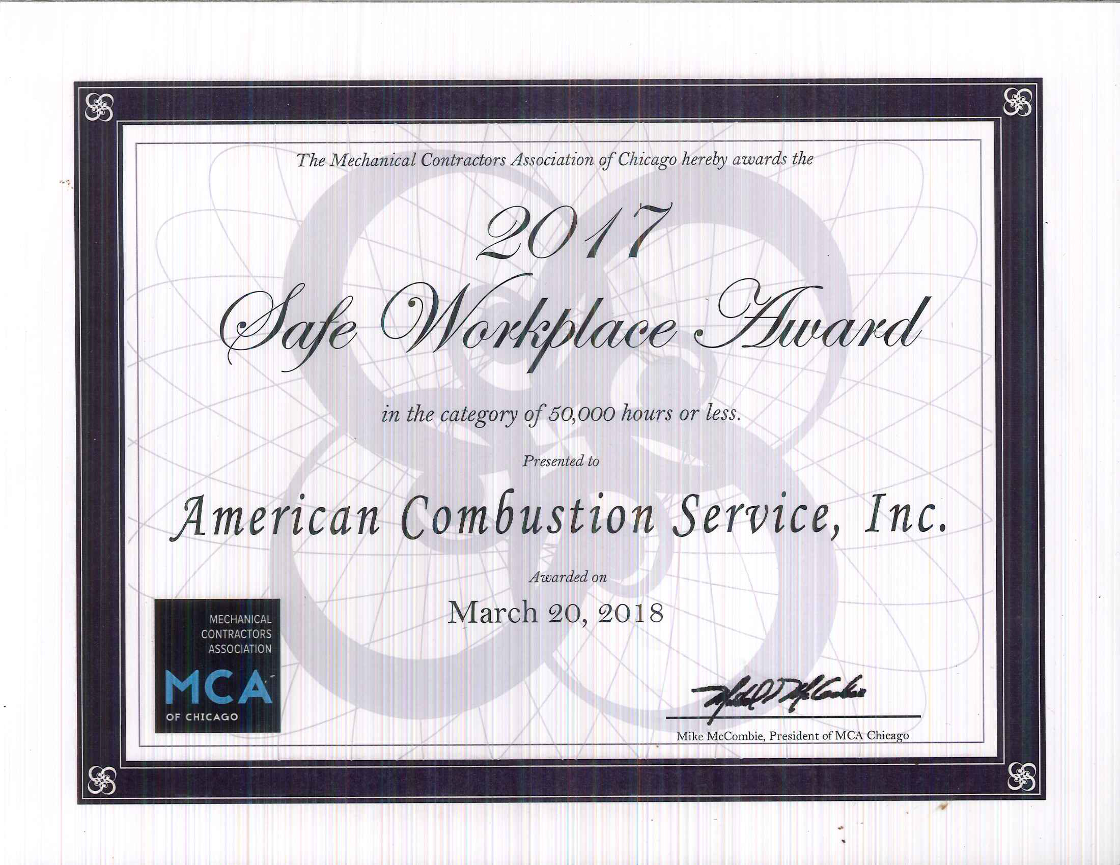 Awards - American Combustion Service, Inc