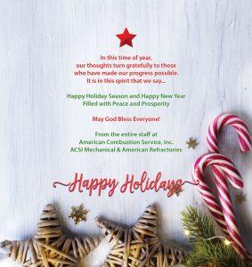 ACSI Holidays