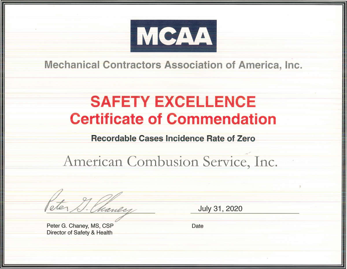 MCAA Safety Recognition Award-2020